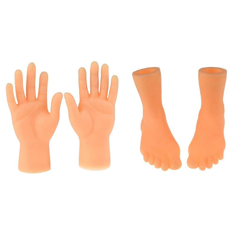 Creative PVC Left Right Hands Feet Finger Puppet Model Toy Doll Child Baby Gifts Parent-child Interaction Closely United