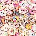 50 шт Ретро серии деревянные кнопки для ручной работы шитье скрапбук одежда ремесла аксессуары Подарочная карта декор 15-20 мм