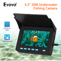 Eyoyo Draagbare 4.3inch monitor Onderwater Vissen Video Camera 8pcs Infrarood Lamp Lichten Video Fishfinder 10000mAh Batterij