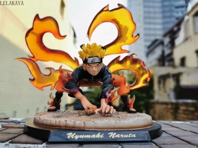 Naruto Shippuden Uzumaki Naruto Kakashi Obito Itachi Kyuubi Kurama Statue Anime PVC Action Figure Collectible Model Toys Doll