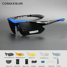 Professional Polarized Cycling Glasses Bike Casual Goggles Outdoor Sports Bicycle Sunglasses UV 400 With 5 Lens TR90  4 color