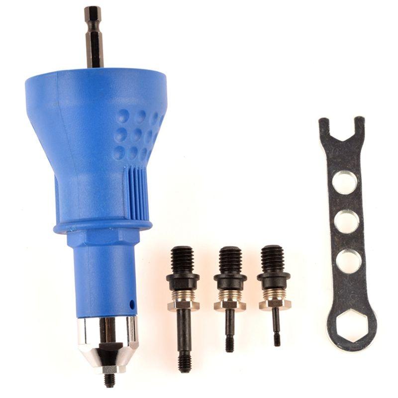 MXITA Rivet Nut Tool Adaptor M3 M4 M5 M6 Cordless Drill Adapter Rivet Nut Gun Battery Electric Rivet Drill Riveting Machine