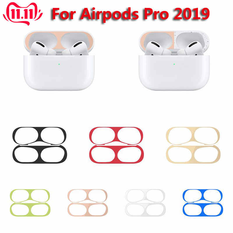1 Set Metal Dust Guard Sticker for AirPods Pro Earphone Inner Skin Case Cover Dust-proof Protective Sticker Air Pods Accessories