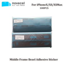 100pcs/lot Middle Frame Bezel Sticker Adhesive for iPhone X Mid Chassis Stickers Middle Frame Glue for iPhone XS Max
