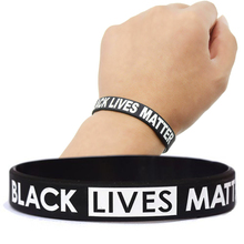 Bracelet Bangle Wristband Matter Black Silicone American Unisex Debossed Awareness Lives