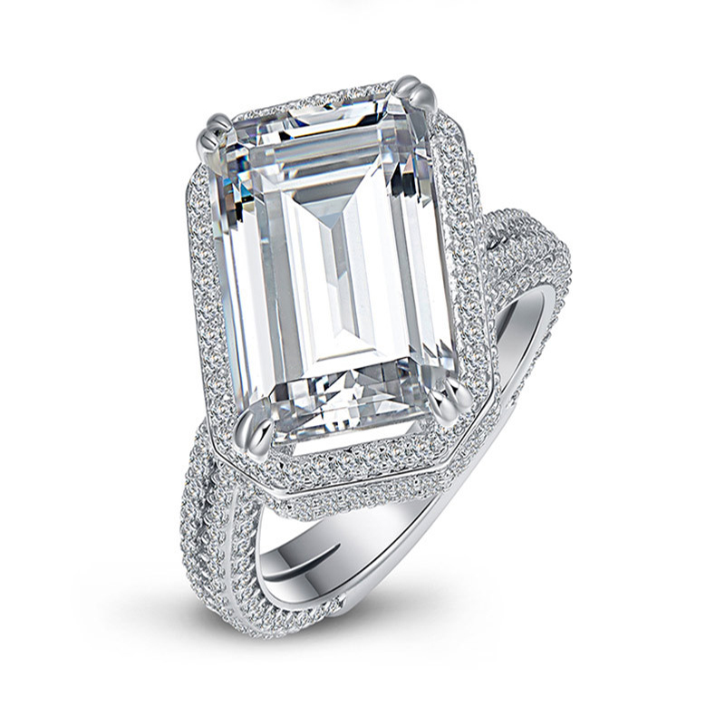 QYI 925 Silver Rings Women High-grade silverware Simulated diamond Female Wedding Engagement Jewelry