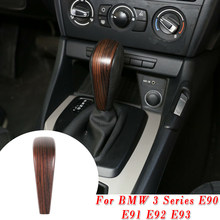car Shift Knob Decor Sticker Cover Pine Wood Style Suitable for BMW 3 Series E93 2007-2013 Car stickers Car accessories(China)