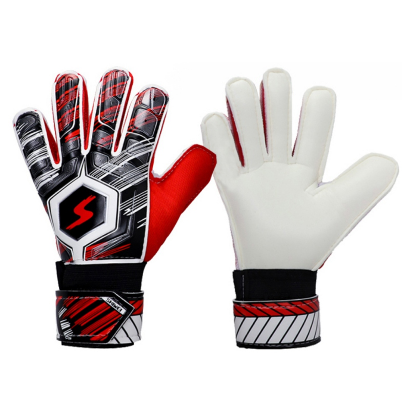 Latex Kids Men's Soccer Goalkeeper Gloves Professional Football Protection Keeper Gloves Adult Soccer Goalie Training Secure Glo