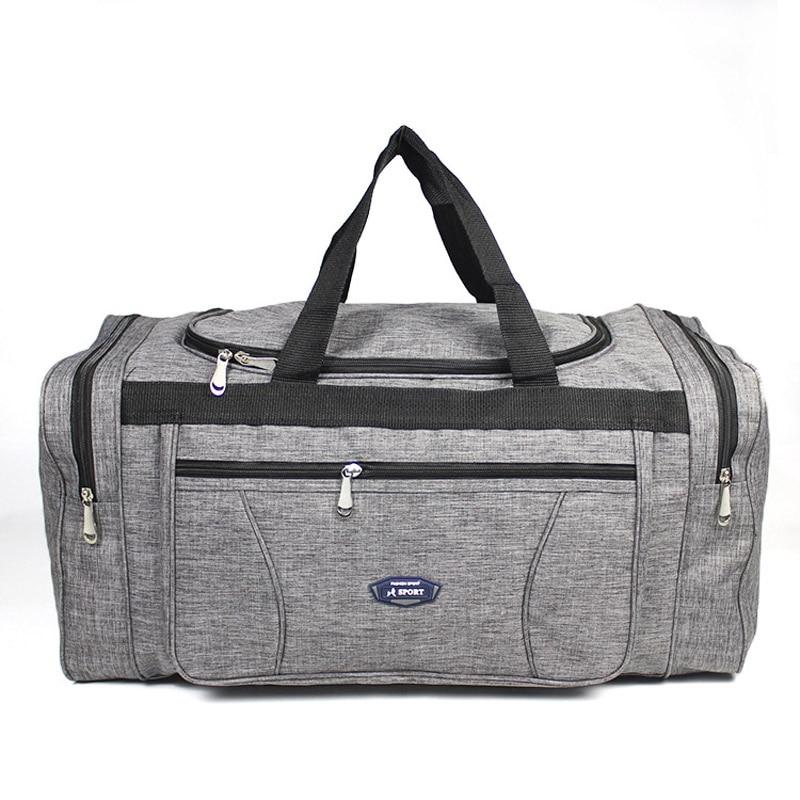 Women Men Oxford Travel Duffel Bag Carry On Luggage Bag Men Tote Large Capacity Weekender Gym Sport Holdall Overnight Bag XA189K