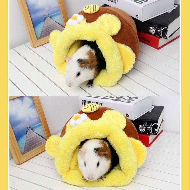 Conejillo de indias erizo hámster cama casa caliente Chinchilla nido jaula para erizo Snuggle saco polar ardilla pequeños artículos de animales