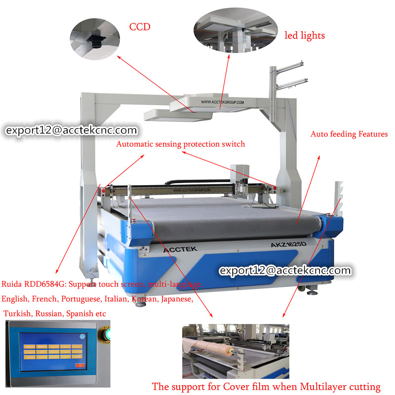 CCD Automatic Cnc Cutting Machine For Leather Textile  Automatic Cloth Cutting Machine Cutting Equipment
