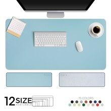 Alfombrilla de ratón grande portátil de doble cara para Gamer, alfombrilla de escritorio de gamuza de cuero PU impermeable, alfombra para ratón teclado, cubierta de mesa para Dota
