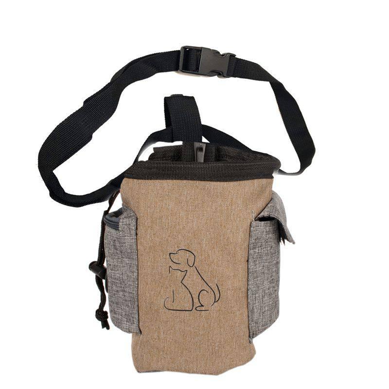 Dog Treat Pouch font b Pet b font Hands Training Waist Bag Drawstring Carries Lovely Dogs