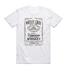 Summer Men Print Motley Crue Fashion T Shirt Short Sleeves O Neck Cool Casual Merch Band Rock Metal T-shirt