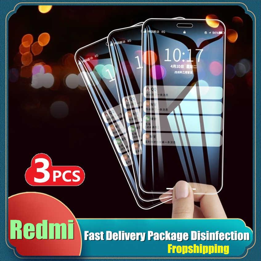3 PCS Vetro Temperato Per Xiaomi mi 10 9 lite 9T Pro Redmi 6 6A 7 7A Protezione Dello Schermo per la Nota Redmi 5 6 7 Pro 7S pellicola Protettiva