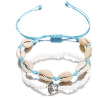 Bird Turtle Shell Star Charm Rope String Anklets For Women Ankle Bracelet Bangle On the Leg Chain Foot Beach Jewelry Gift summer beach turtle shaped charm rope string anklets for women ankle bracelet woman sandals on the leg chain foot jewelry