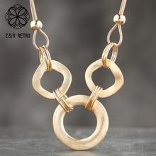Trendy Jewelry Necklaces Pendants Chain-Collar Choke Statement Women for Zinc-Alloy Wedding-Presents-Suspension