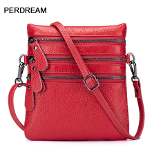Diagonal mobile phone bag leather mini bags vertical single shoulder first layer cowhide small bag open shoulder mini vertical striped dress
