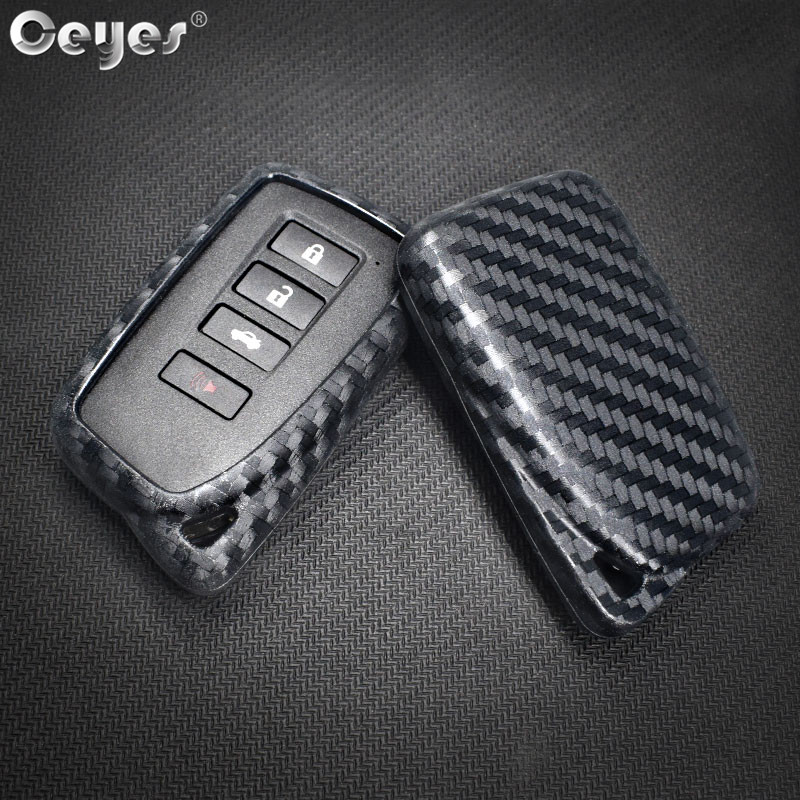 Ceyes Auto Key Covers Accessories For Lexus ES GX LX RC 200 250 350 LS Silicone Car Remote Key Cover Shell Sticker Car Styling