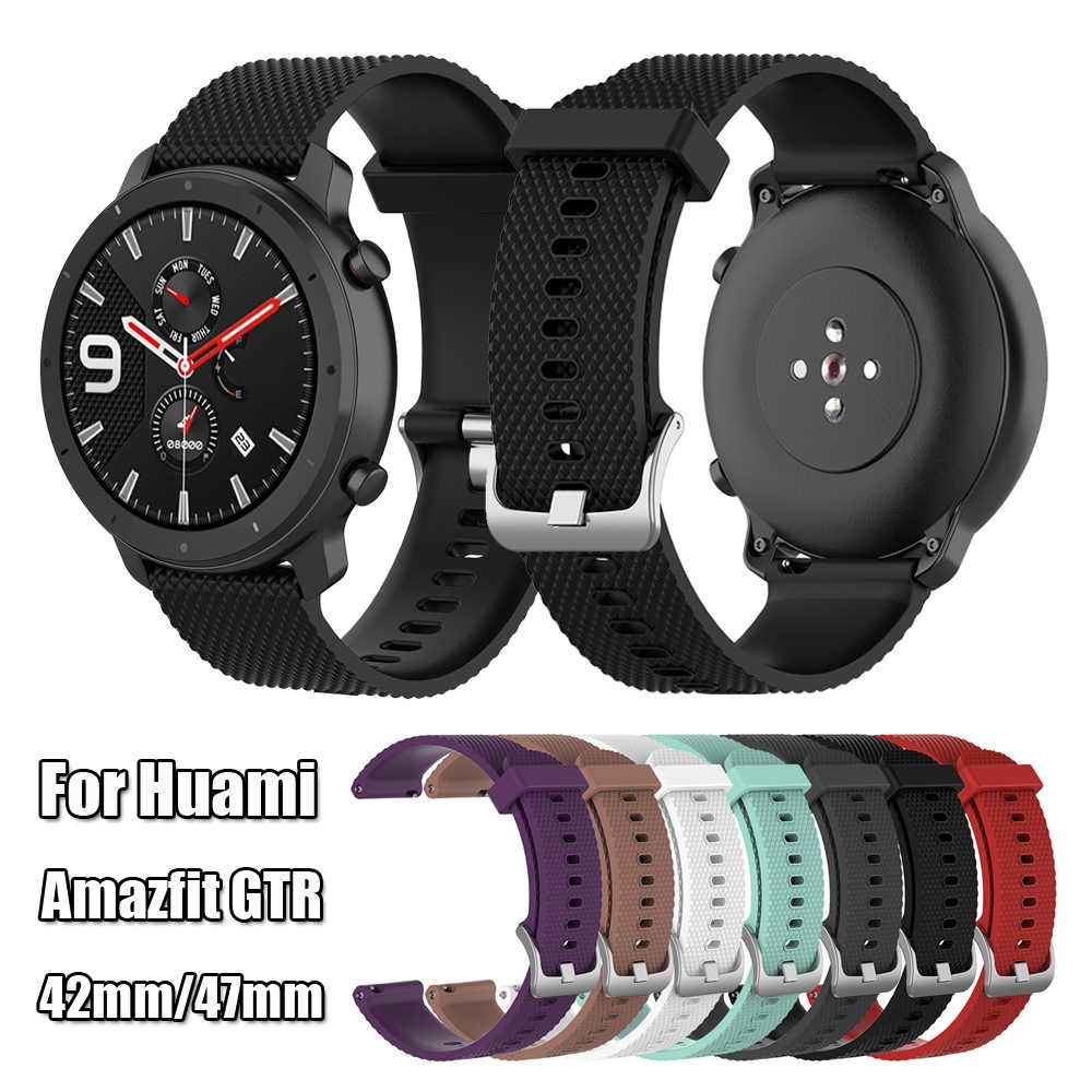 New Coming 20mm 22mm Strap Silicone Watch Band for Huami Amazfit GTR Samsung Gear S3 Active Bracelet Strap Durable