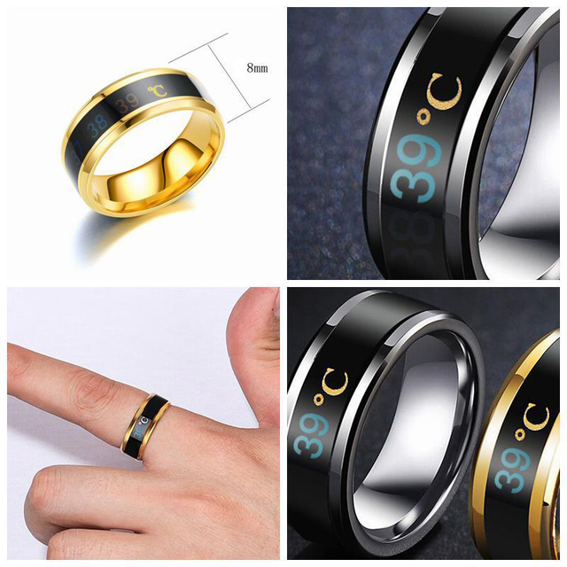 Body Temperature Ring Stainless Steel  5
