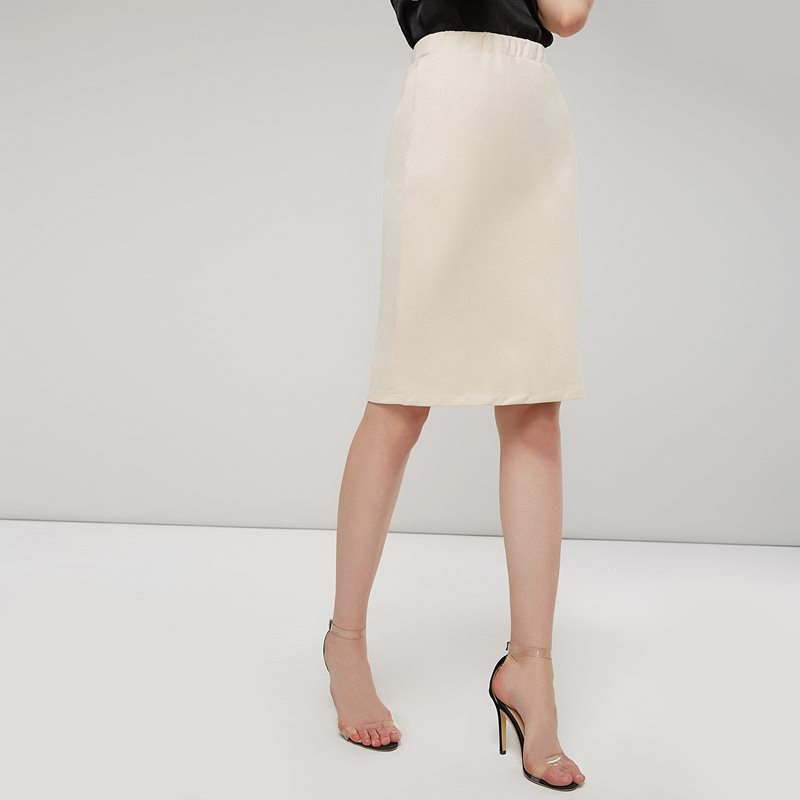 Bohoartist Vintage Suede Plain Knee-Length Women's Bodycon Skirt Solid Color Split Elegant Office Lady OL Mid Skirt 2019 Win