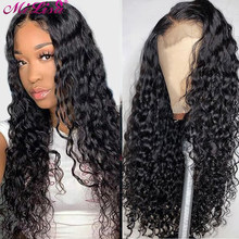 Mi Lisa 13x4 Water Wave Lace Front Human Hair Wig 150% Brazilian Remy Hair For Women Pre Plucked With Baby Hair 4x4 Closure Wig(China)