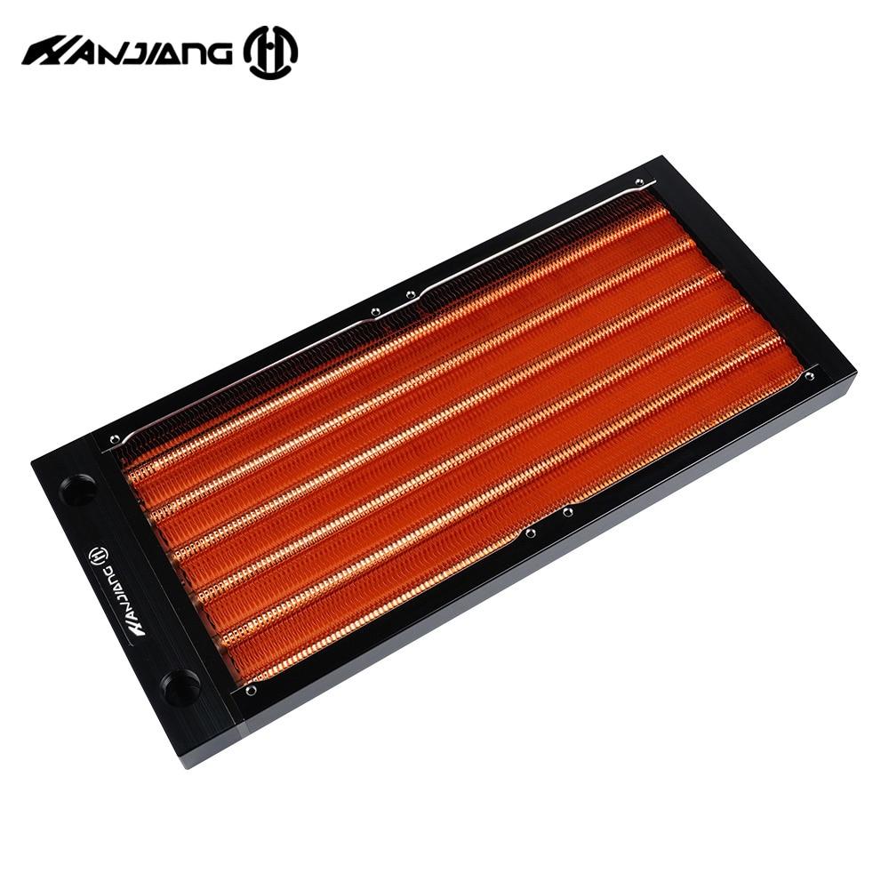 Сверхтонкий медный радиатор HJ 240 мм для чехла A4, комплект водяного охлаждения мини-компьютера, радиатор G1/4 с петлей, рекомендую продавца