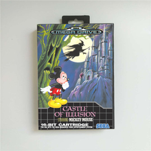 Kasteel Van Illusion Starring Mickey Eur Cover Met Doos 16 Bit Md Game Card Voor Sega Megadrive Genesis video Game Console