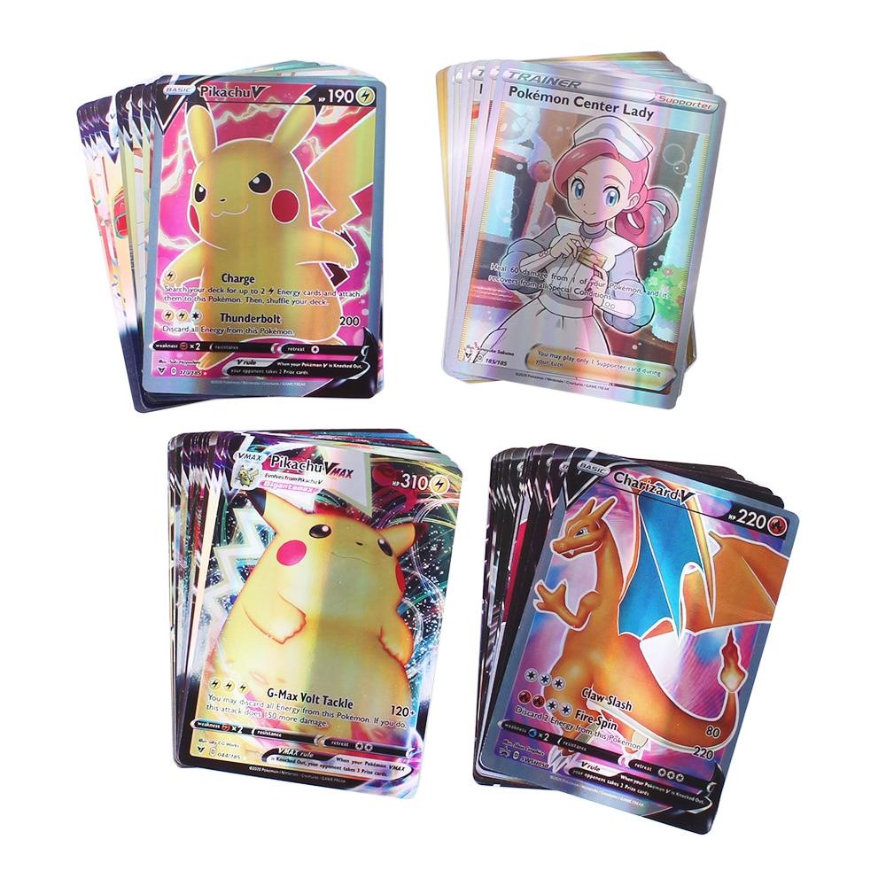 2021 pokemon cartão 200 v max 300 gx crianças batalha inglês versão tag equipe shinny vmax tensão vívida|Jogos de carta colecionáveis|   -