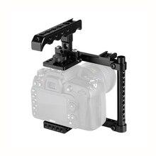 Kayulin Cage Camera Kit Con Top Formaggio Maniglia & Shoe Mount Per Canon 600D 70D 80D (A Destra mano montato)