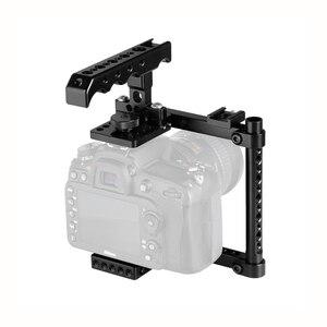 Image 1 - Kayulin מצלמה כלוב ערכת עם למעלה גבינת ידית & נעל הר עבור Canon 600D 70D 80D (ימין יד רכוב)