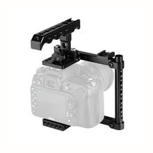 Kayulin Kit de jaula para cámara con asa superior de queso y soporte para zapata para Canon 600D 70D 80D (montado a la derecha)