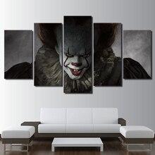 Картина на холсте 5 шт pennywise клоун it страшный hd печать
