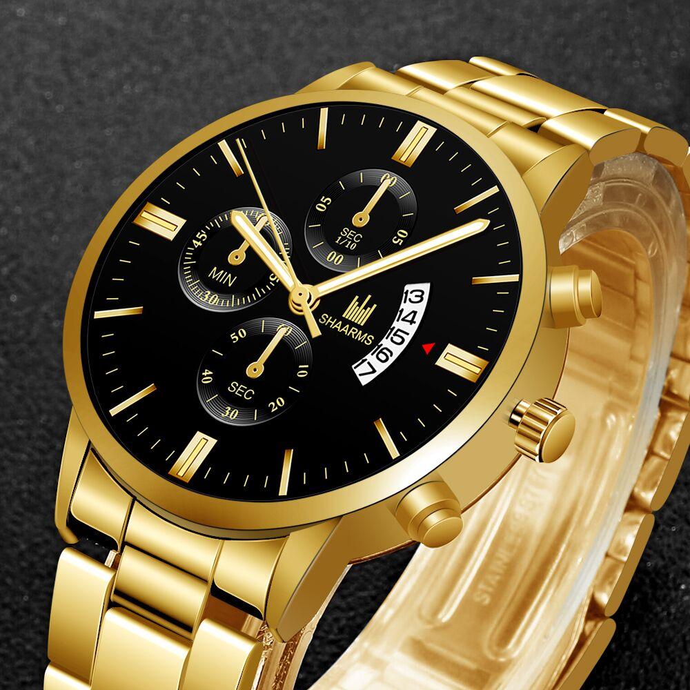 SHAARMS Relogio Masculino Wristwatch Male Men Luxury Date Business Watches Fashion Sport Date Watch 2020 Reloj Hombre