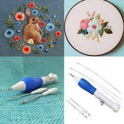 Pióro do magicznego haftu igła do haftu narzędzie do tkania fantazyjne akcesoria biurowe haft dla kobiet X1 na