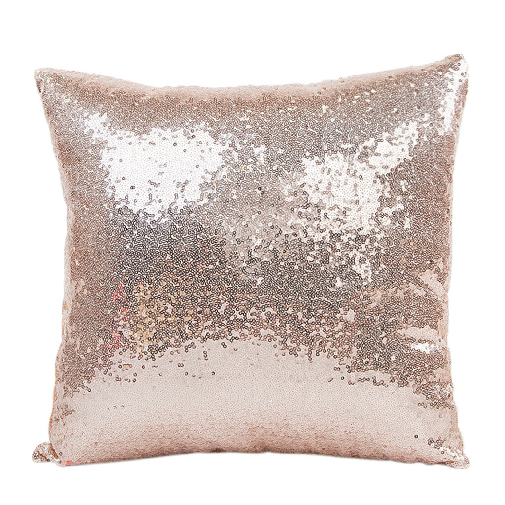 30x50cm/40x40cm Glitter Bling Throw Pillow Case DIY Sequin Pillowcase Throw Pillow Home Hotel Pillowcase Supply 4Color