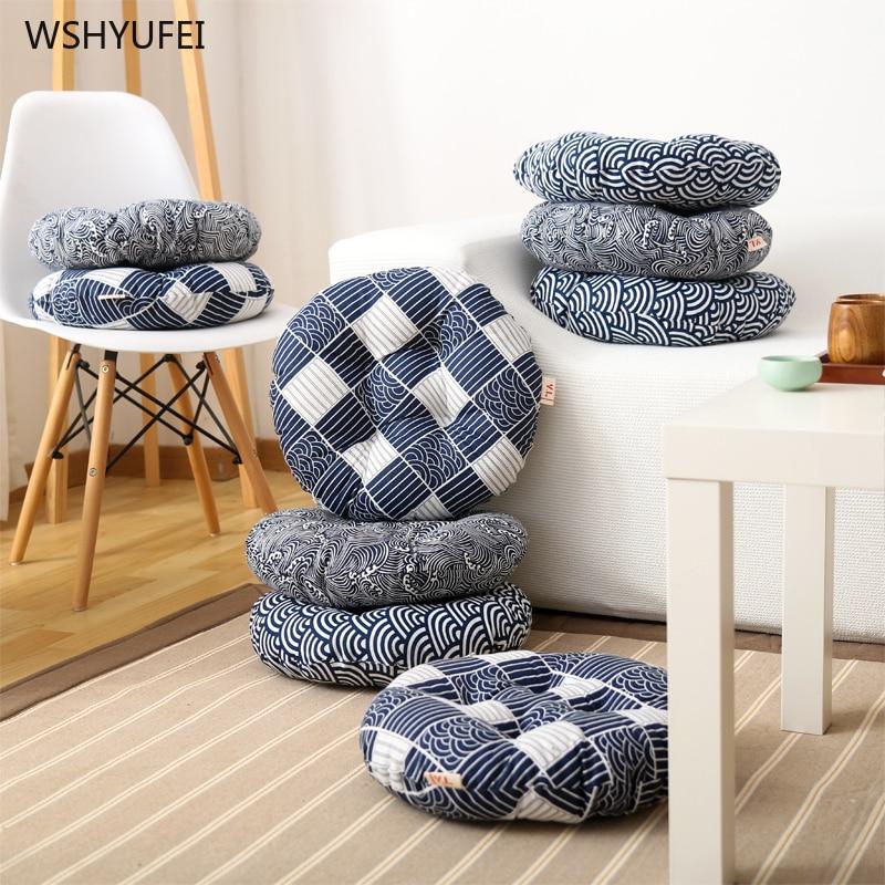 Japanese-style Fabric Tatami Futon Cushion Padded Living Room Bay Window Home Large Tea Ceremony Round Yoga Mat Meditation Pad