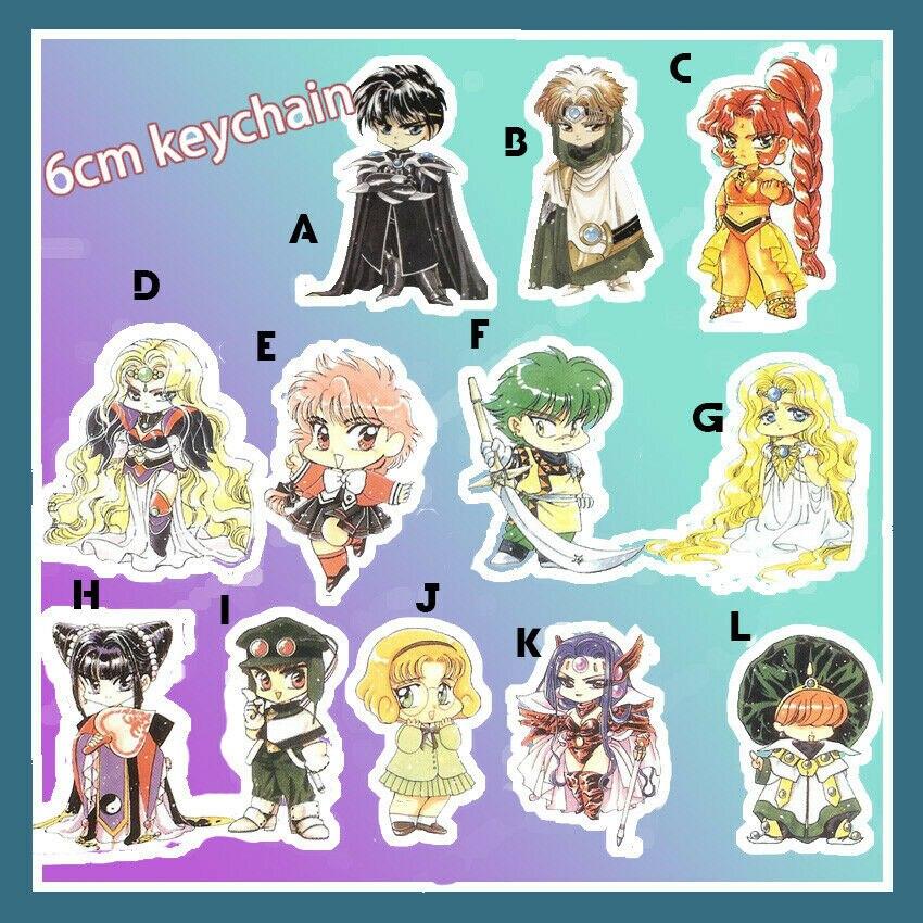 Acrylic Keychain Strap Keyring Anime Magic Knight Rayearth Shidou Hikaru Umi 6cm