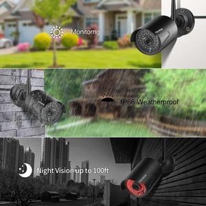 """Image 5 - Techege 8ch 1080p nvr sistema de câmera cctv sem fio 12 """"tela lcd gravação áudio ao ar livre câmera ip kit câmera vigilância segurança"""