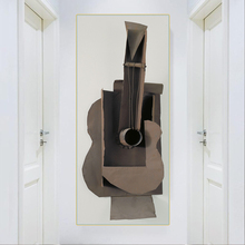 Citon Pablo Picasso《Guitar 1912》Canvas Art Oil Painting Artwork Poster Picture Modern Wall Decor Home Decoration For Living room duchting hajo pablo picasso