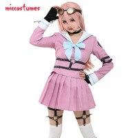 Iruma Miu Cosplay Danganronpa V3 Cosplay Killing Harmony School Uniform Cosplay Costume with Belts Set