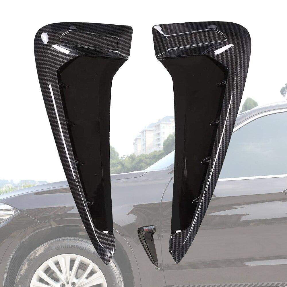 Автомобильная боковая вентиляционная Крышка Накладка для Fender Auto для BMW X5 F15 X5M F85 14-18 Shark Gill 3D украшение для XDrive или M логотип наклейка bmw стикер ...