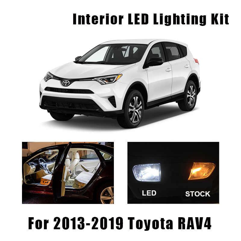 kammuri 11x no error white led car interior bulbs package kit for 2006 2017 2018 2019 2020 toyota rav4 rav 4 led interior light