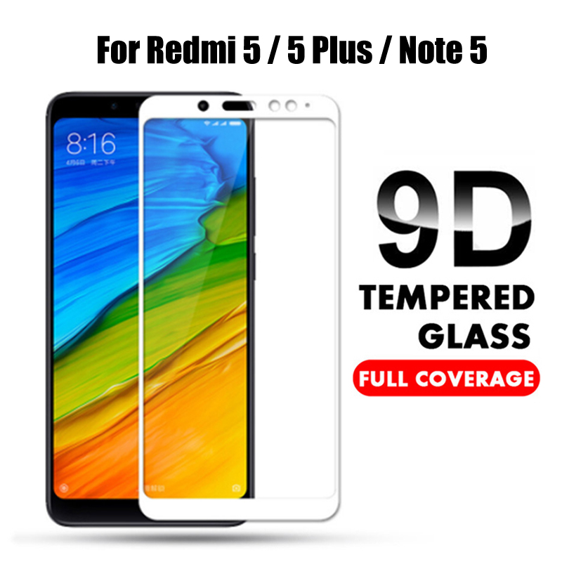 9D Full Cover Tempered Glass For Xiaomi Redmi Note 5 Global version Screen Protector for Redmi Note 5 Pro Note5 Protective Film(China)