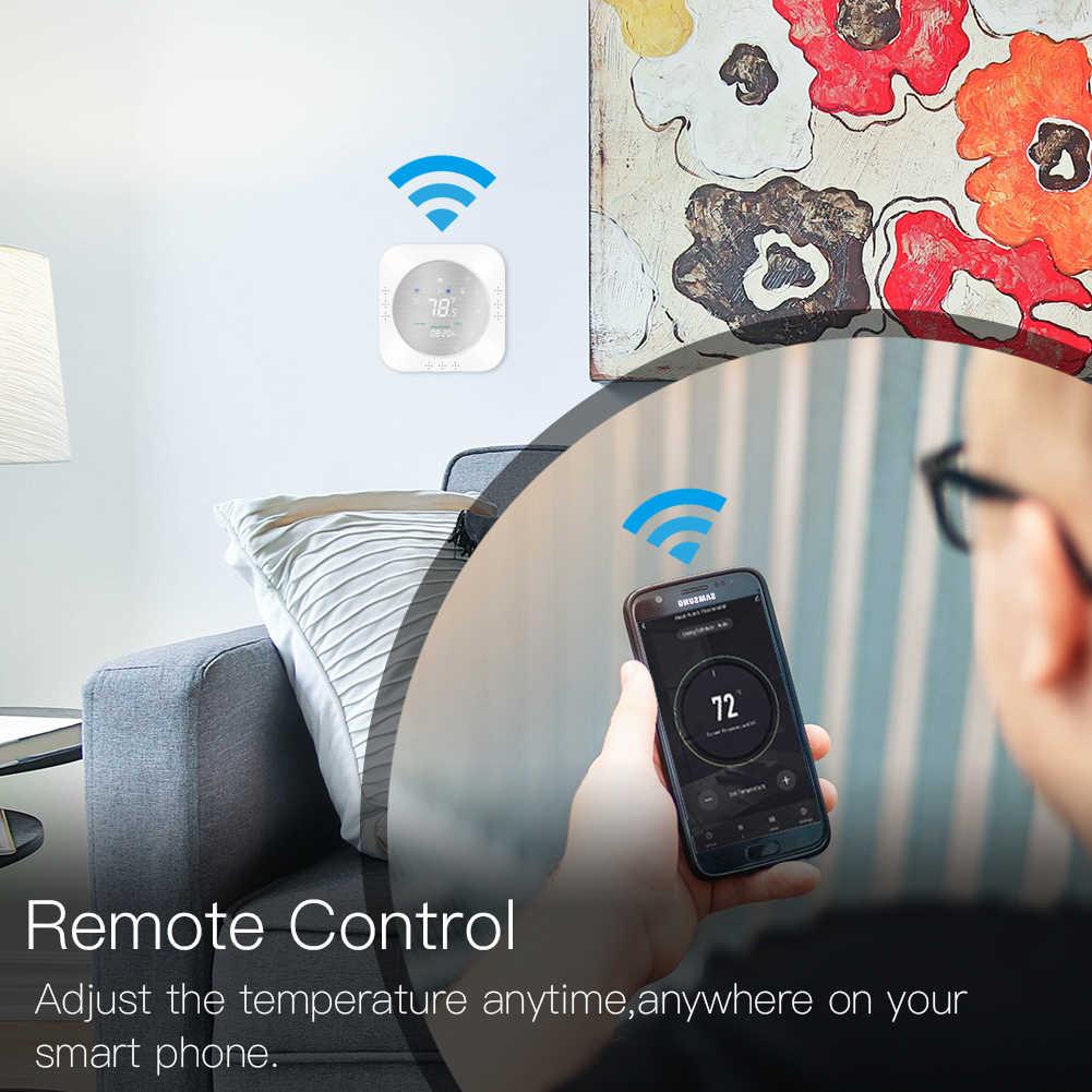 WiFi akıllı ısı pompası 24V termostat sıcaklık kumandası akıllı yaşam/Tuya APP uzaktan kumanda, Alexa Google ev ile çalışır