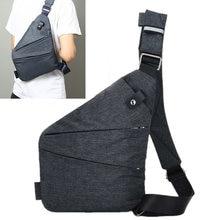 Marca pacote de peito masculino viagem negócios fino saco anti roubo alça segurança armazenamento digital burglarproof bolsa ombro coldre