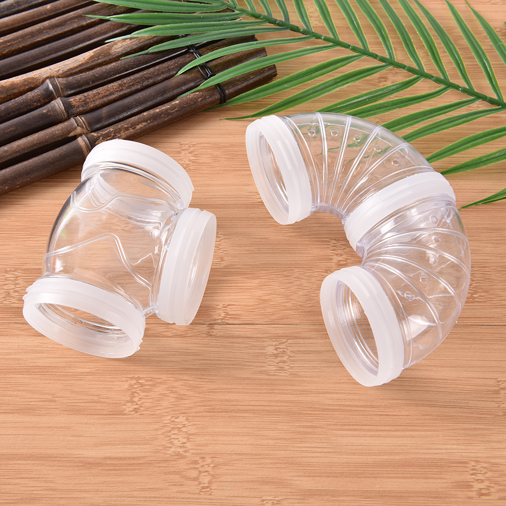 1pcs Multi-style Hamster Tunnel Fittings Transparent Acrylic Cage Hamster Accessories Cheap Small Pet Toys