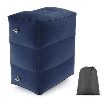 Новые 3 слоя надувная подушка для ног Ортопедическая подушка для поездки на машине или поезде подставка для ног, подушка с мешком для хранен...