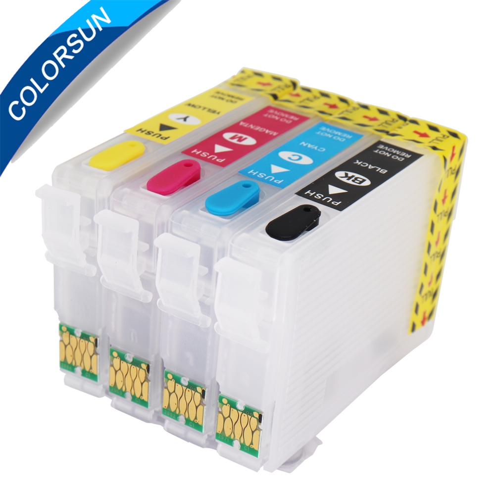 4PC T2991 29 29XL T2994 Refillable ink cartridges for <font><b>Epson</b></font> XP342 <font><b>XP345</b></font> XP442 XP445 xp-445 xp-345 xp-342 with auto reset chips image
